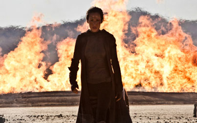 Maggie Q as Priestess in the new movie Priest