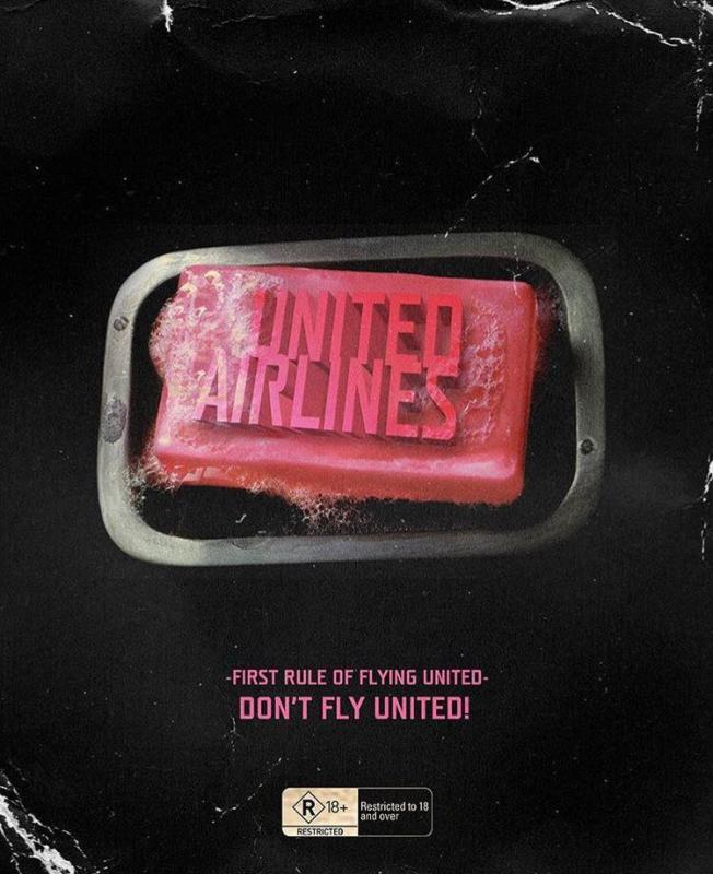 united airlines fight club meme